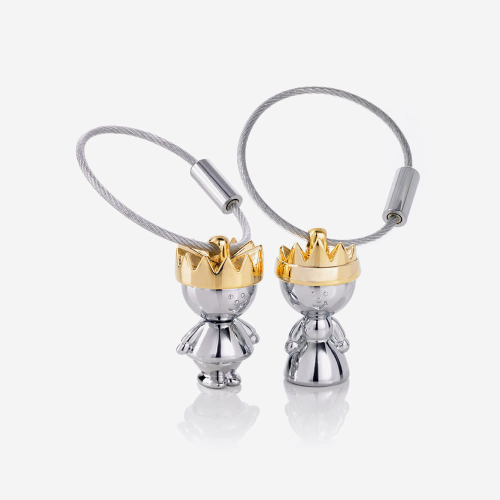 [TROIKA] LITTLE KING & QUEEN SET 키홀더 (KR9-38/CH)